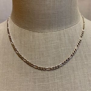 Sterling silver chain w/elongated link design